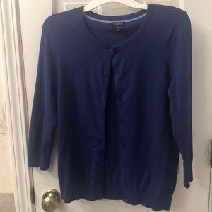 NWT Talbots blue cardigan Size m
